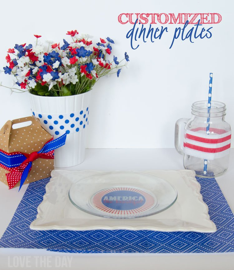 Personalized Dinner Plates on Love The Day