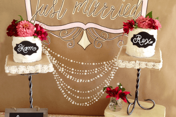 Rustic DIY Cake Stand by Love The Day for Michaels Makers