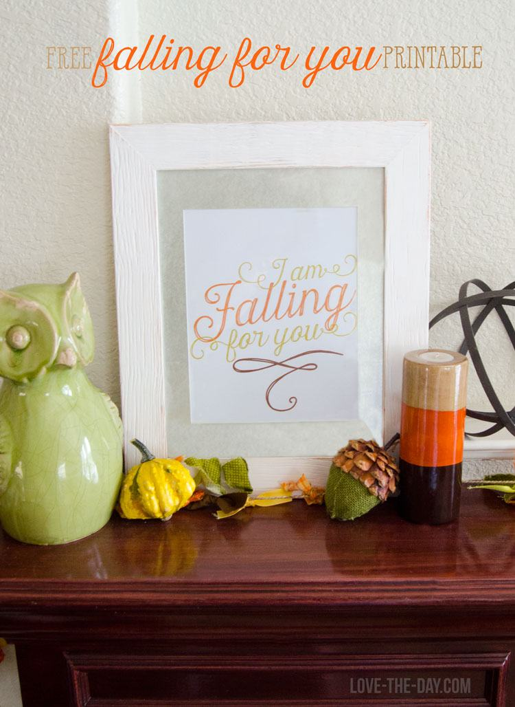 FREE Printable Fall Mantel Decorations by Love The Day