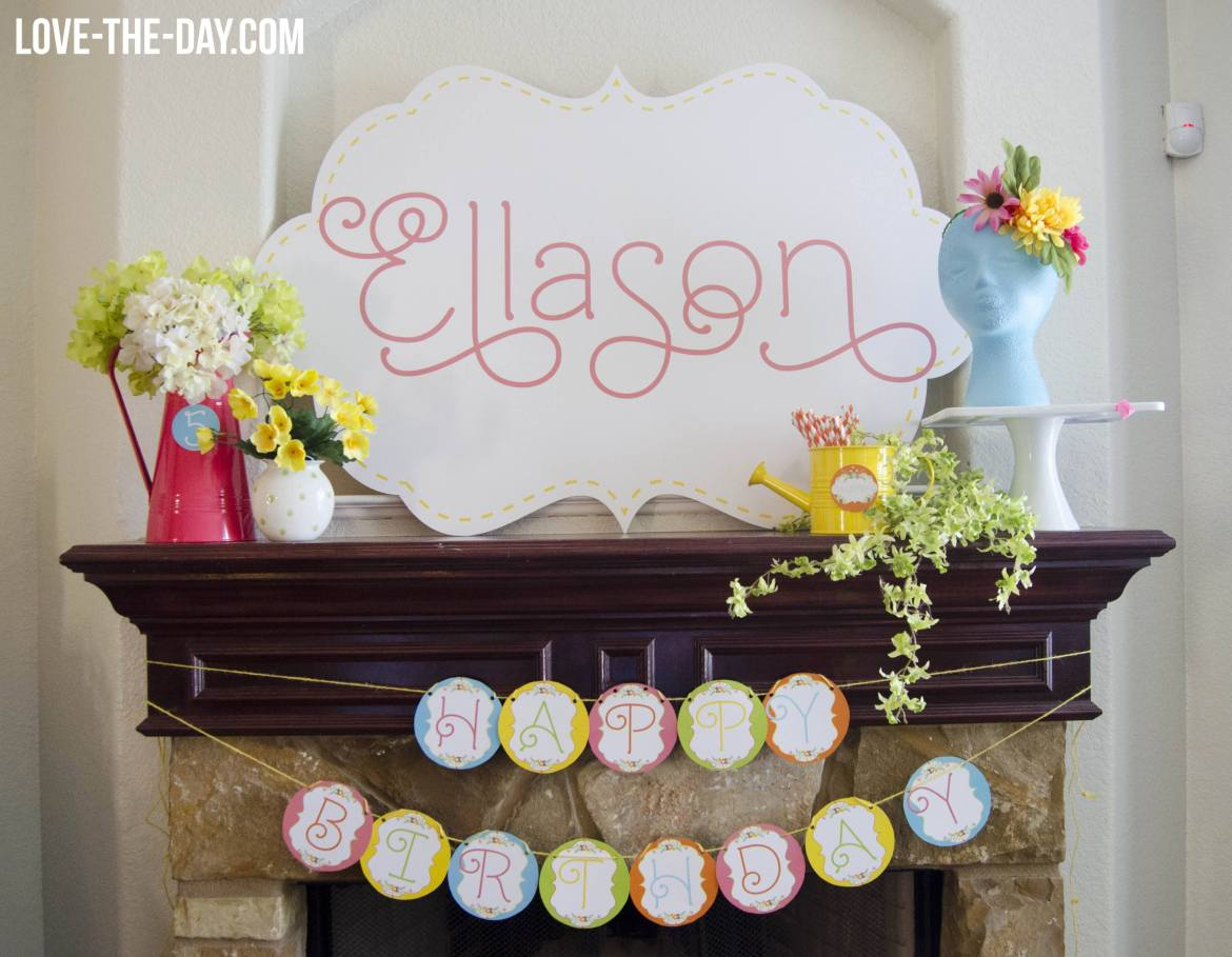 Garden Party by Love The Day for Balloon Time's Party On A Dime Challenge