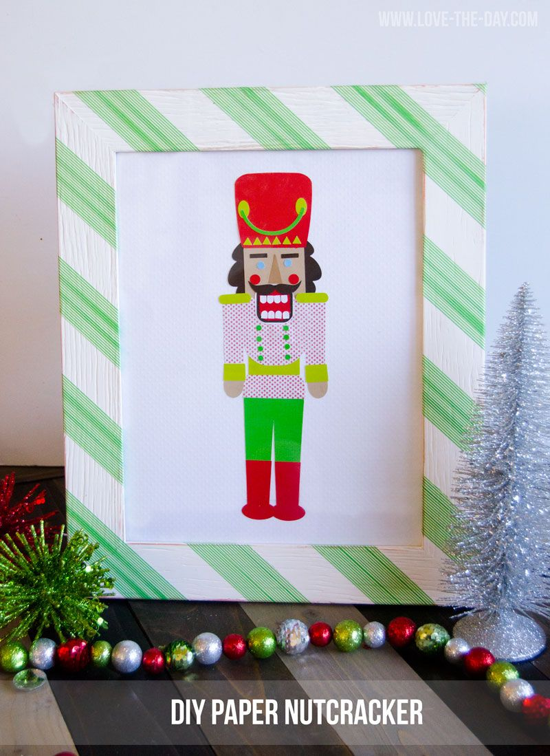 Easy Christmas Crafts:: A DIY Paper Nutcracker with Cricut Explore