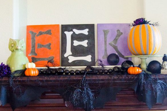 Decorating A Mantle for Halloween