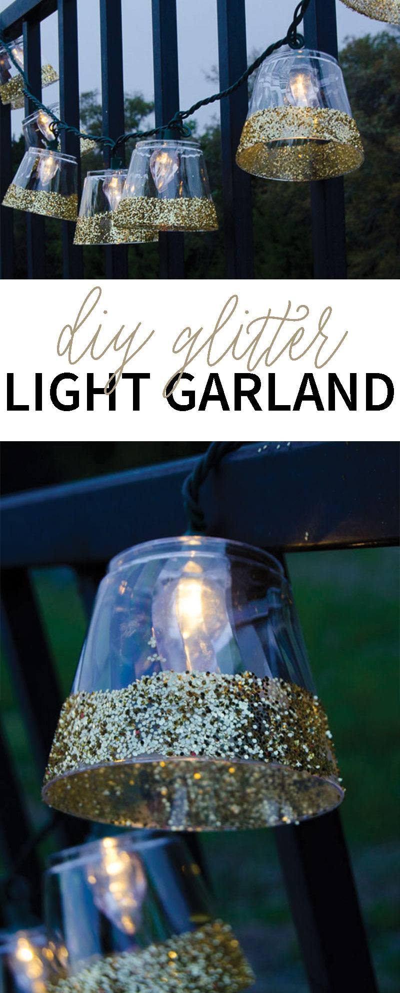 DIY Glittered Light Garland by Lindi Haws of Love The Day