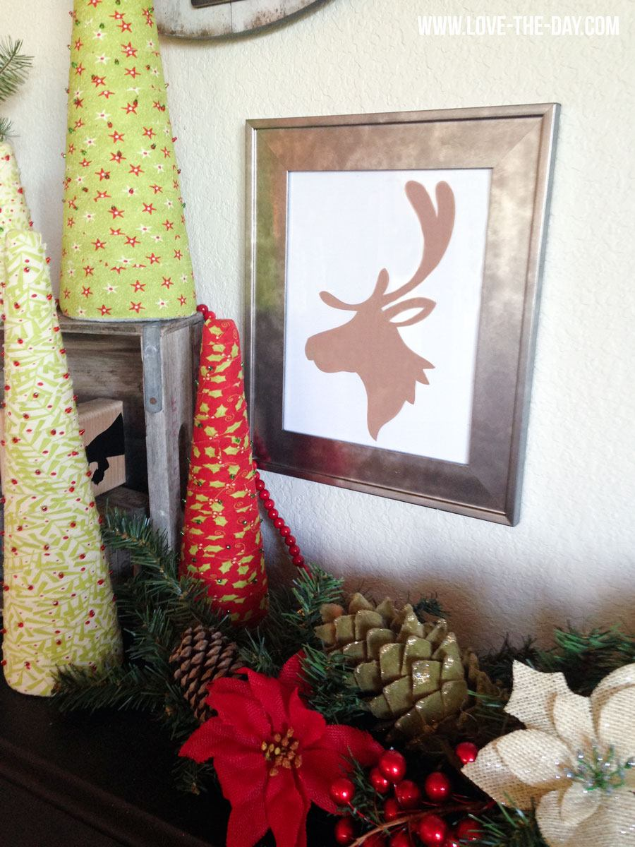 Christmas DEER Printable by Love The Day