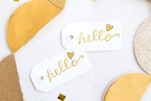 Gold Party Tags by So Love The Day