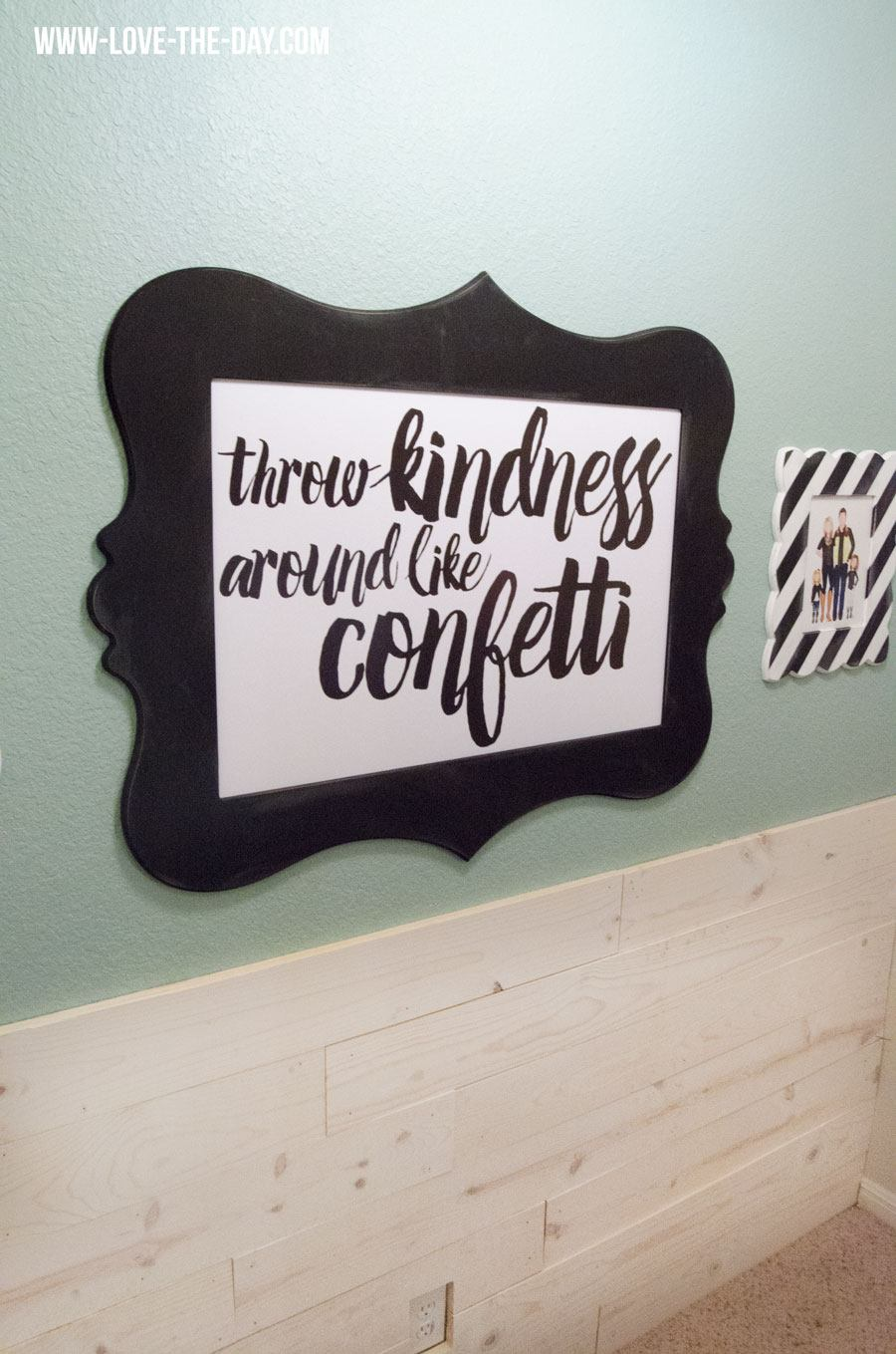 Craft Resolutions with Michael's! Landing Wall Before and After
