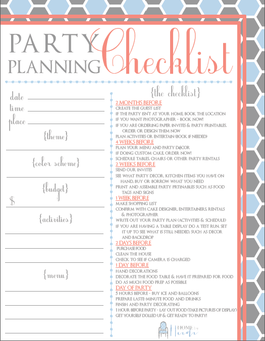 Partying On A Budget U0026 A Party Planning Checklist  Birthday Party Planning Checklist Template