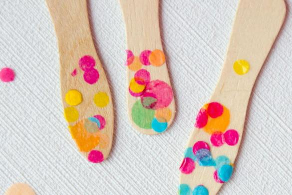 DIY Confetti Wooden Spoons Tutorial by Love The Day
