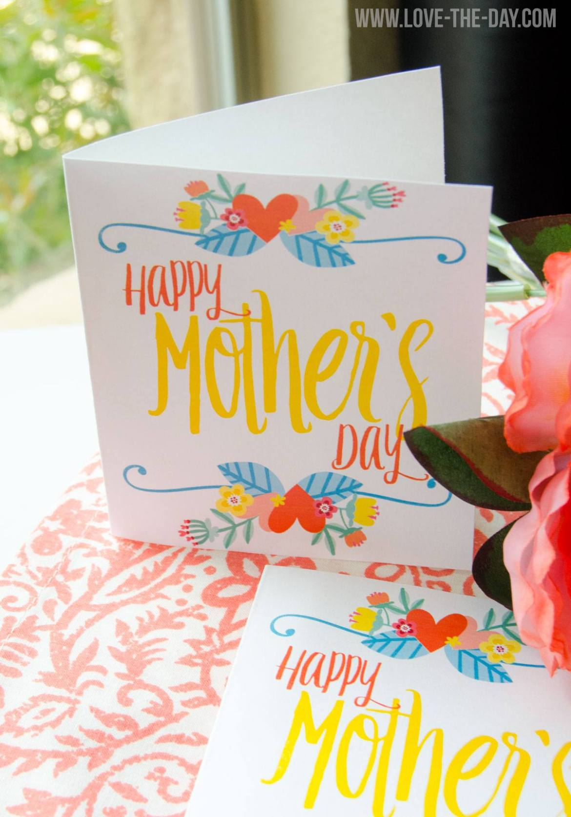 FREE PRINTABLE Mother's Day Card by Love The Day