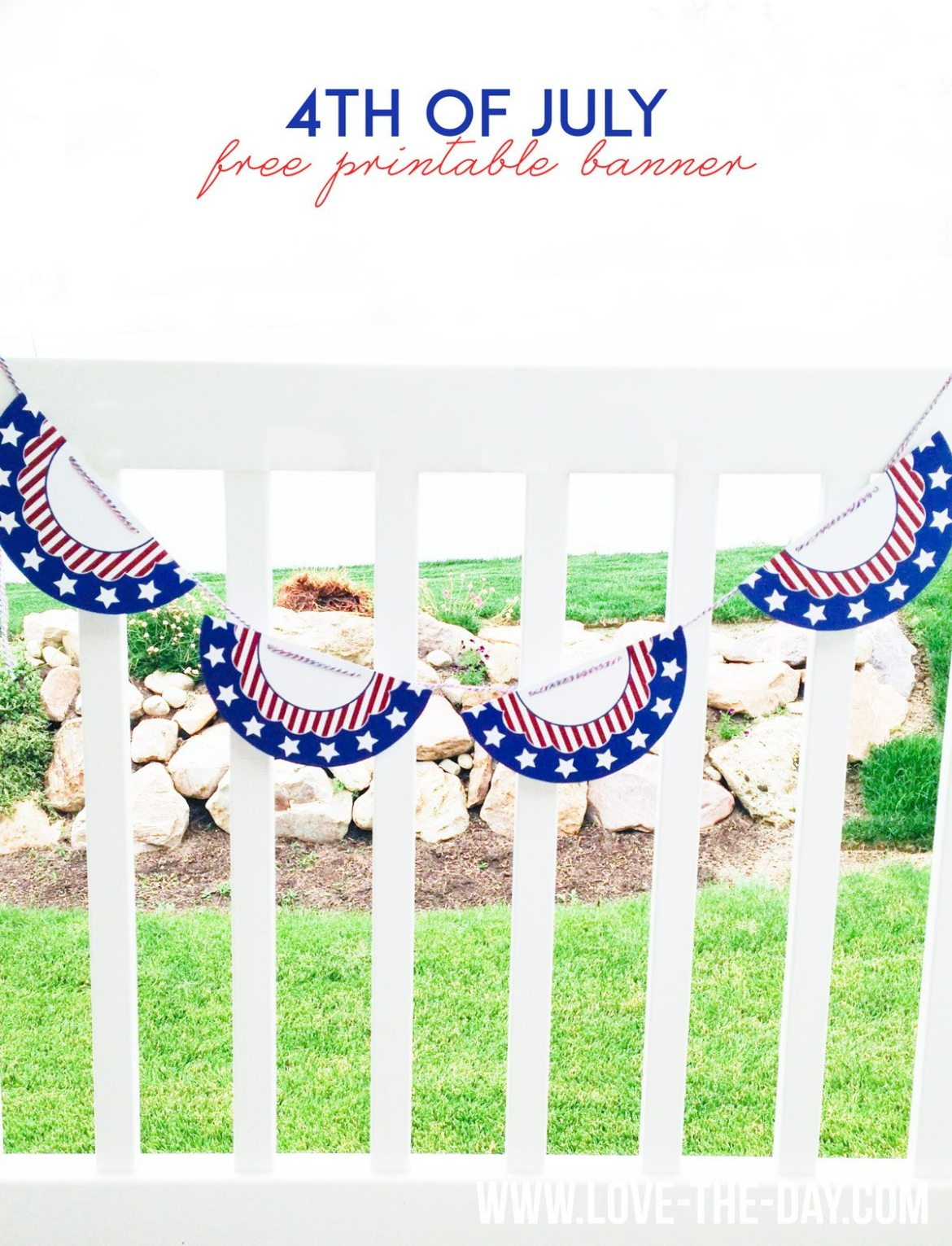 4th of July Crafts:: FREE Printable Patriotic Banner