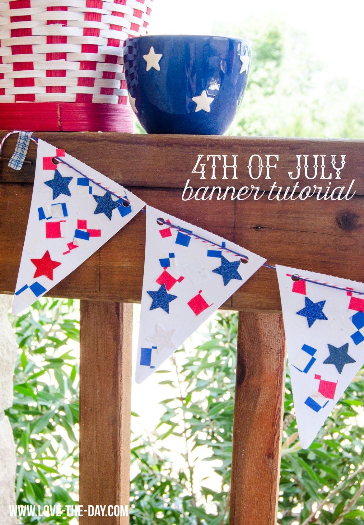 4th of July Party Ideas:: DIY Patriotic Banner