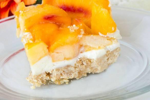 Frozen Fresh Peach Dessert by Love The Day