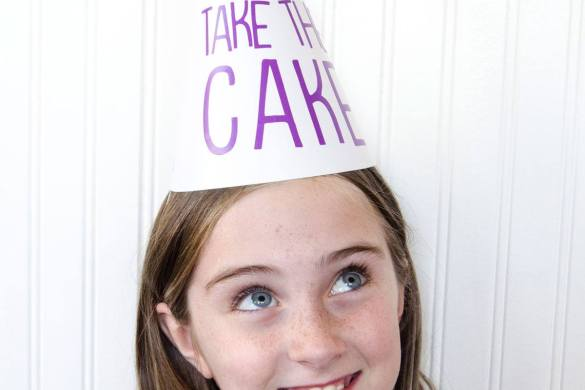 'You Take The Cake' Party Hats with Cricut Explore