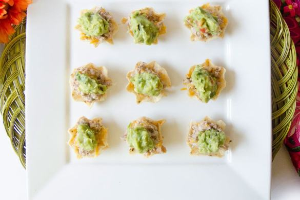 Mini Taco Bites Recipe on Love The Day