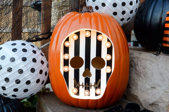 Skeleton Marquee Pumpkin for Michaels by Love The Day