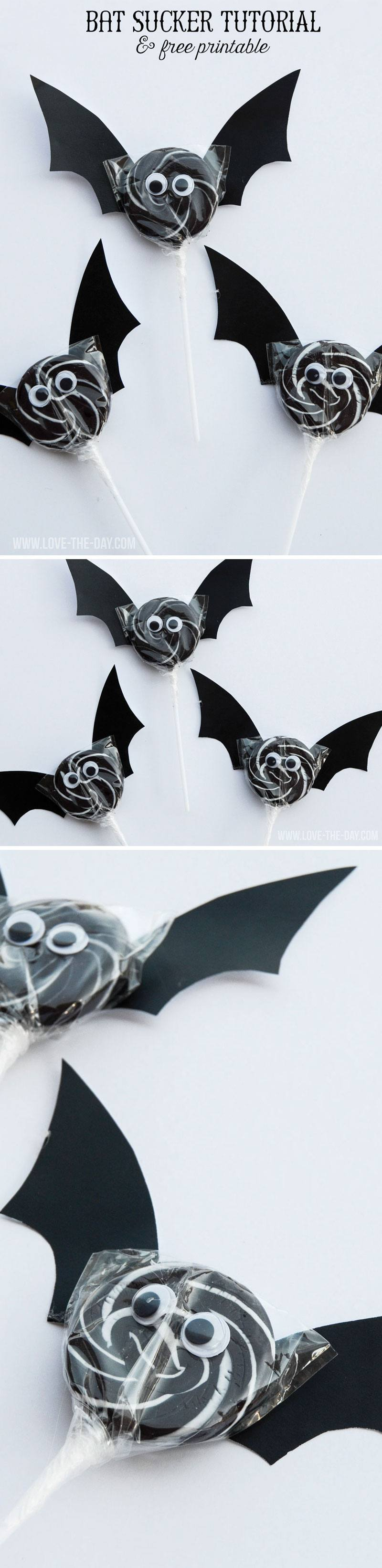 BAT SUCKER TUTORIAL & FREE BAT TEMPLATE by Lindi Haws of Love The Day