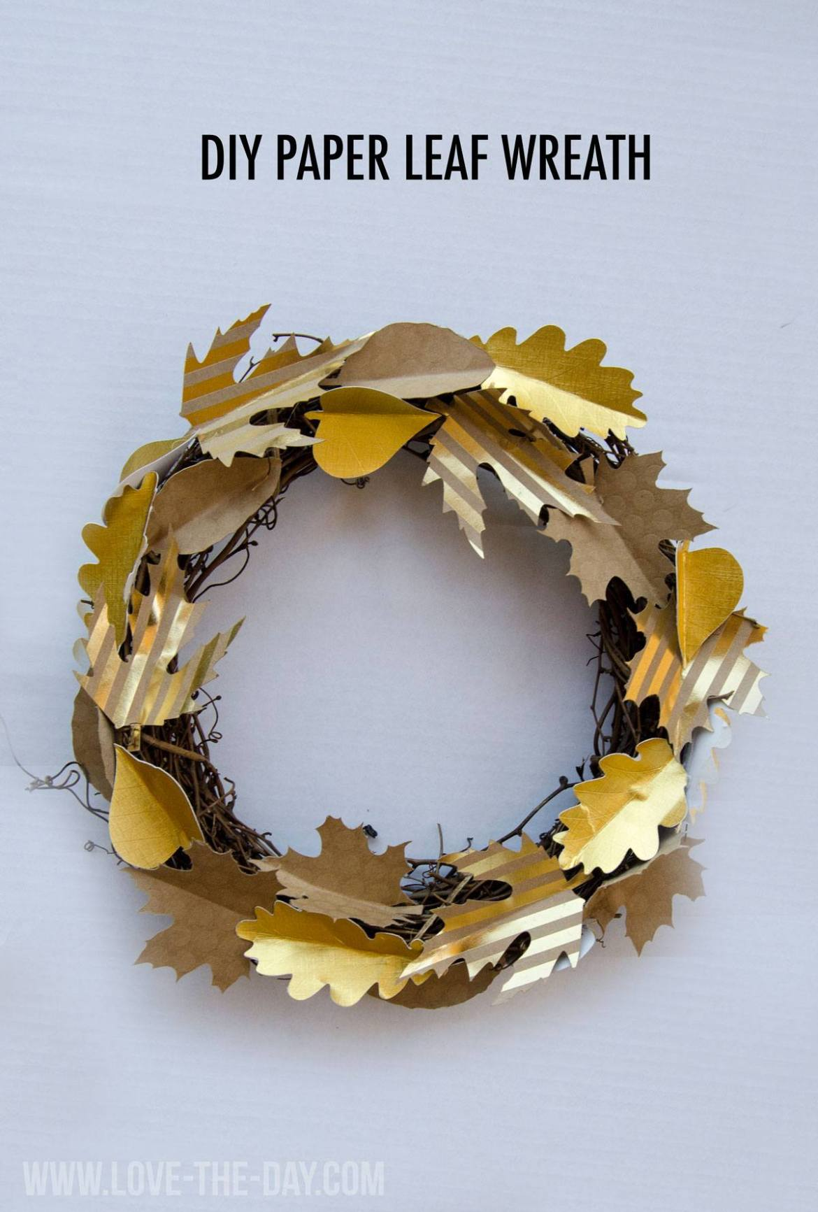 DIY Paper Leaf Wreath With Creativebug and Love The Day