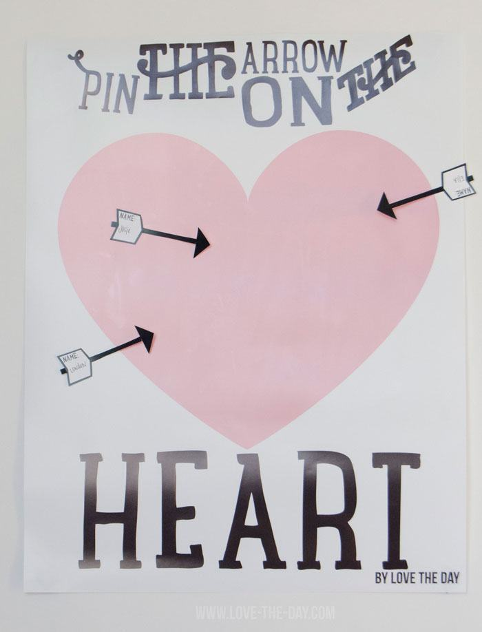 ... Valentine Party Games:: Pin The Arrow On The Heart By Love The Day ...