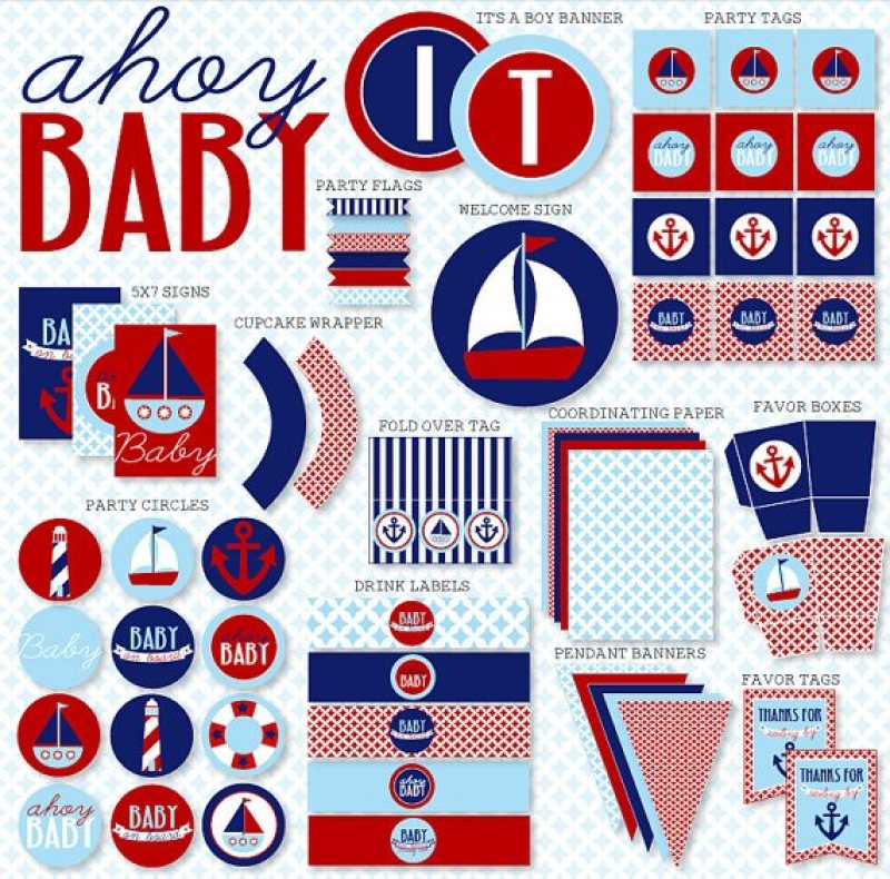 Nautical Baby Shower Ideas & Printables by Lindi Haws of Love The Day