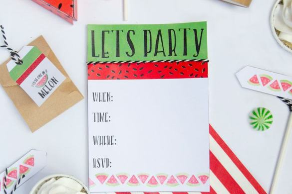 Let's Party! Watermelon Ideas with the Sihouette Mint by Lindi Haws of Love The Day