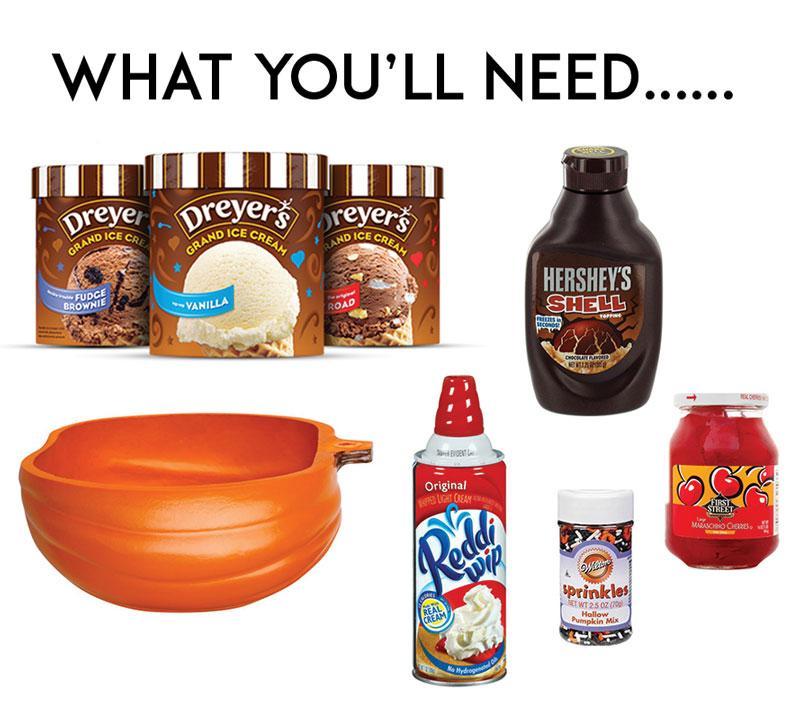 Pumpkin Ideas! Pumpkin Ice Cream Sundae Bowls by Lindi Haws of Love The Day