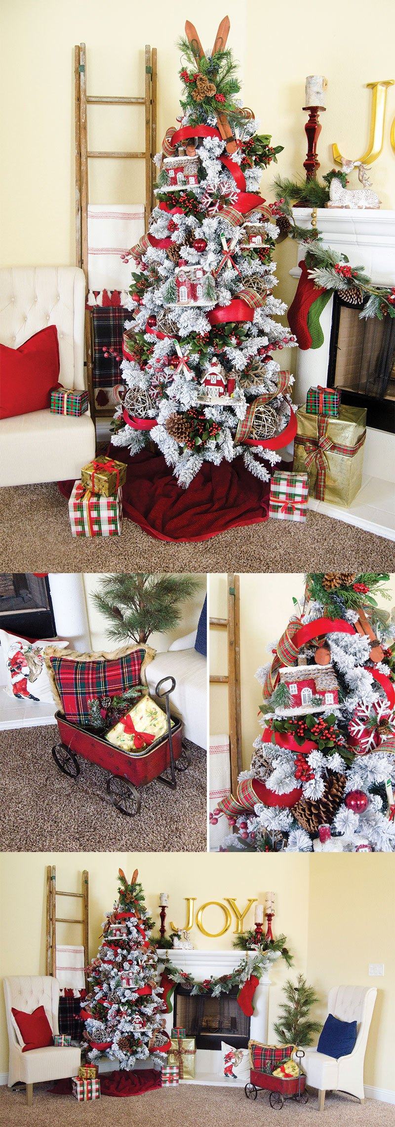 Plaid Christmas Tree Decor Idea by Lindi Haws