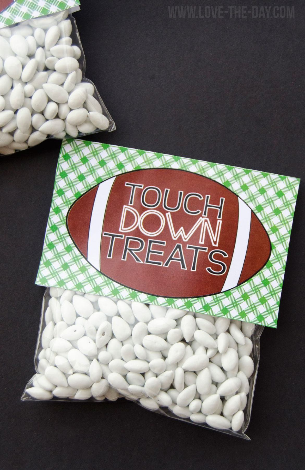 Football Party Favor FREE PRINTABLE by Lindi Haws of Love The Day