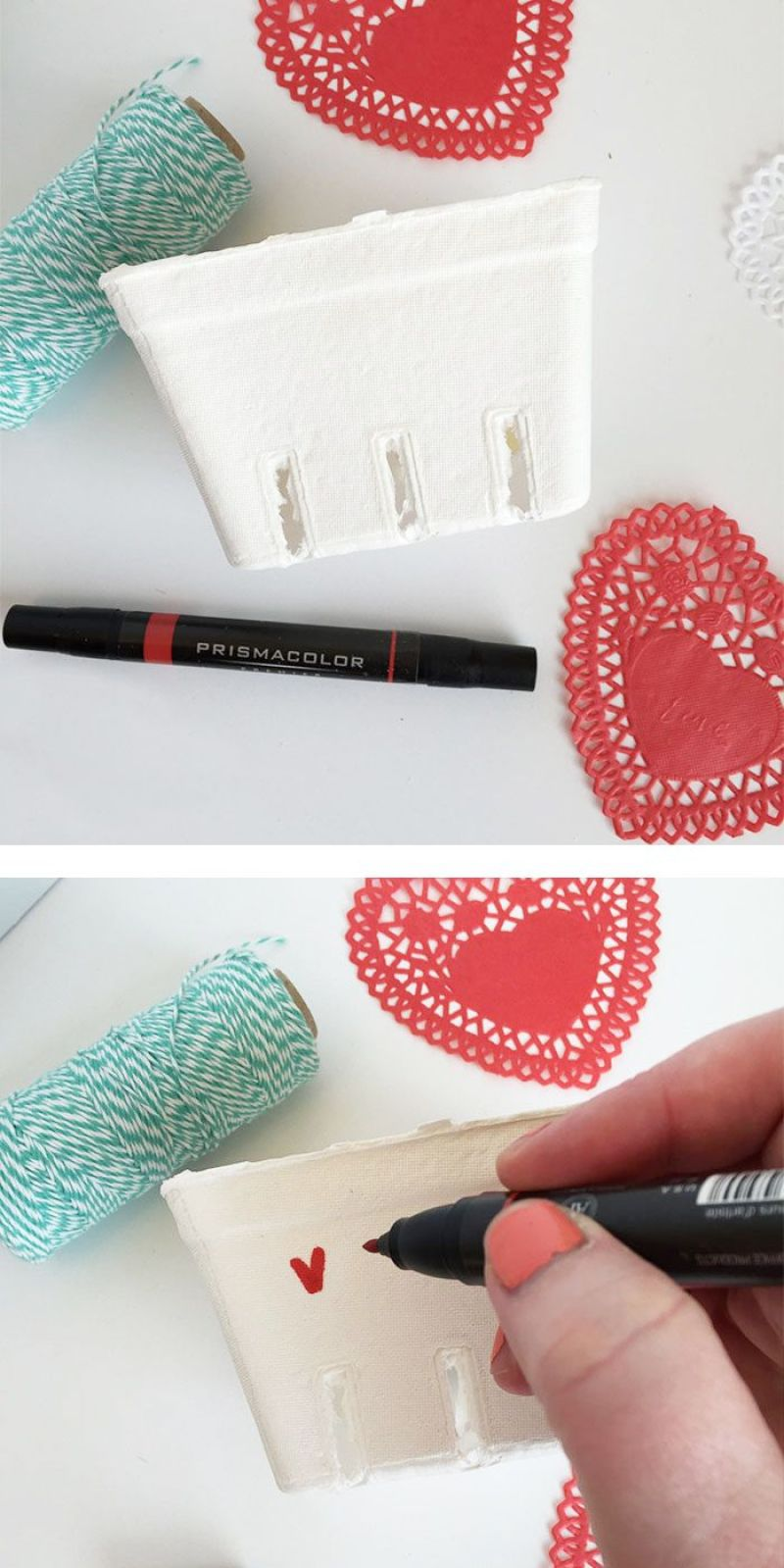 How To Decorate A Box for Valentines Day by Lindi Haws of Love The Day!