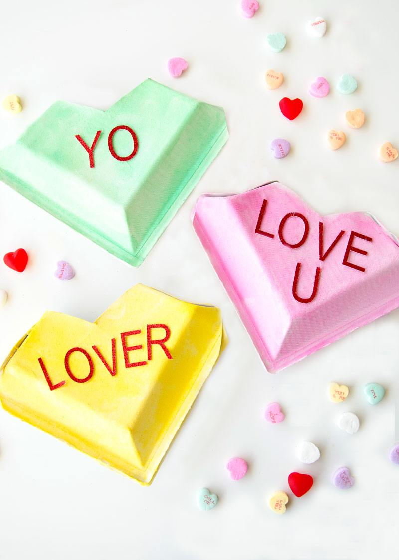 Make Your Own Conversation Hearts Candy Boxes by Lindi Haws of Love The Day