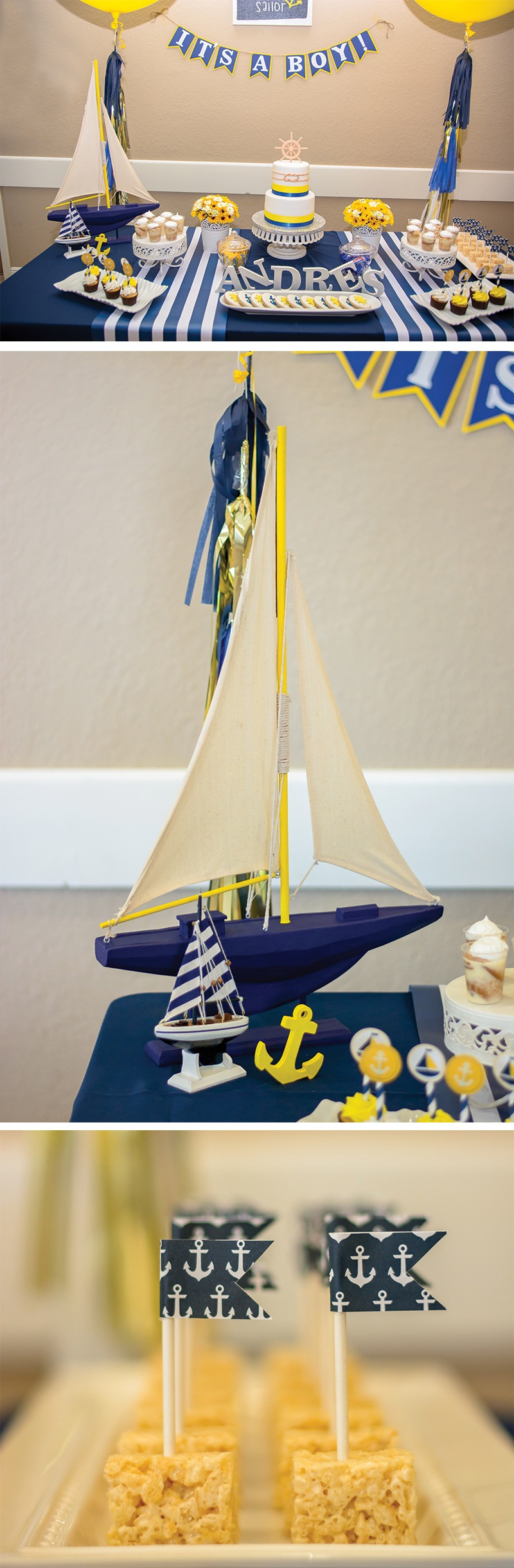 Nautical Baby Shower Theme on Love The Day
