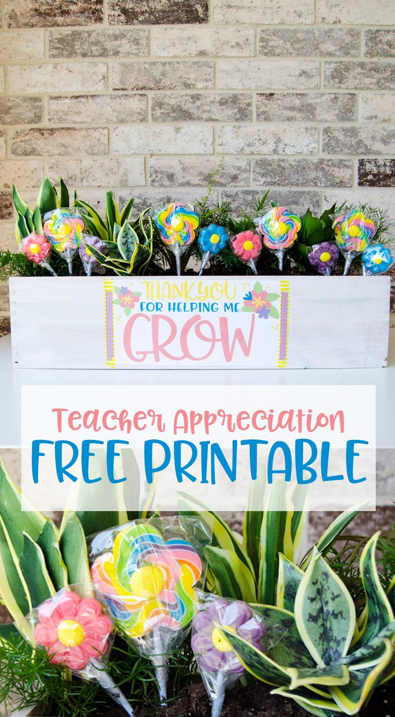 Teacher Thank You Idea & FREE PRINTABLE by Lindi Haws of Love The Day