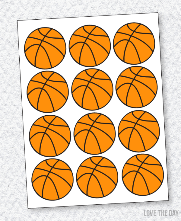Basketball Party PRINTABLE Decals by Lindi Haws of Love The Day