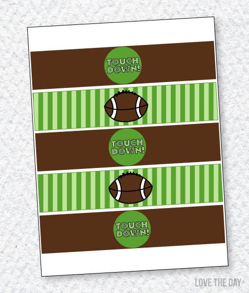 Football Party PRINTABLES:: Drink Labels