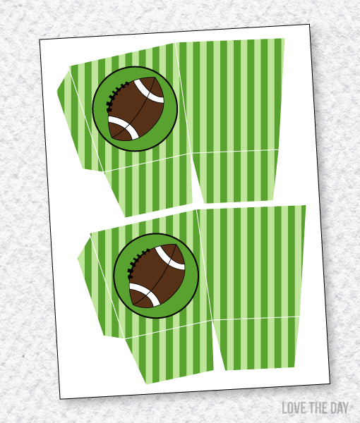 Football Party PRINTABLES:: Favor Box by Lindi Haws of Love The Day