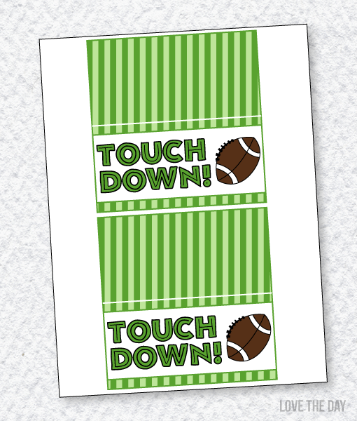 Football Party PRINTABLES:: Fold Over Labels by Lindi Haws of Love The Day