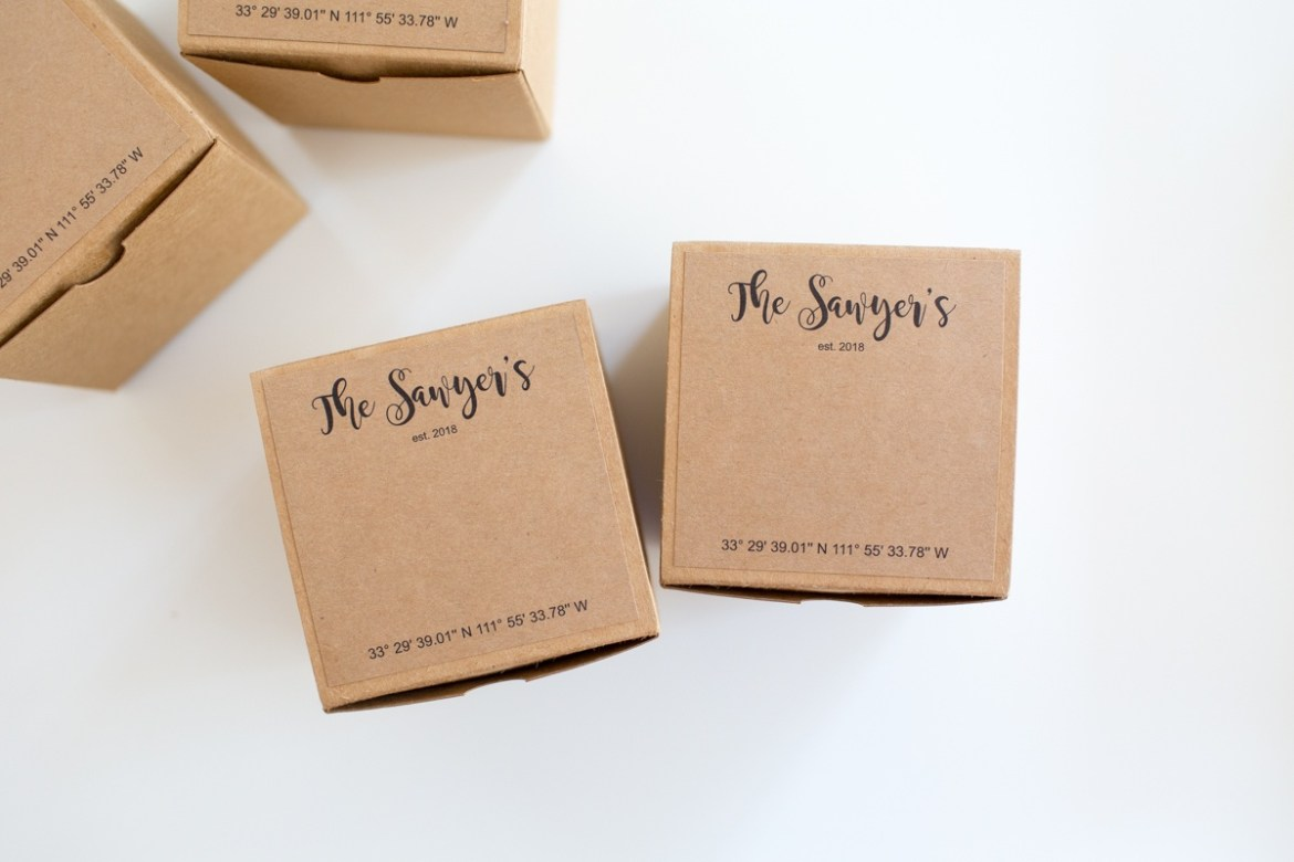 DIY Wedding Gift Box Idea by Partyography on Love the Day