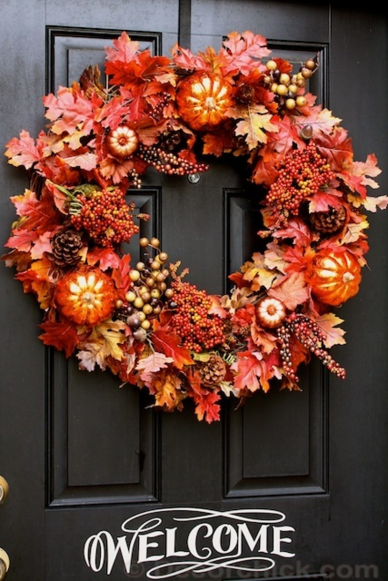 15 welcoming and easy diy fall wreath ideas on love the day Fall autumn door wreaths