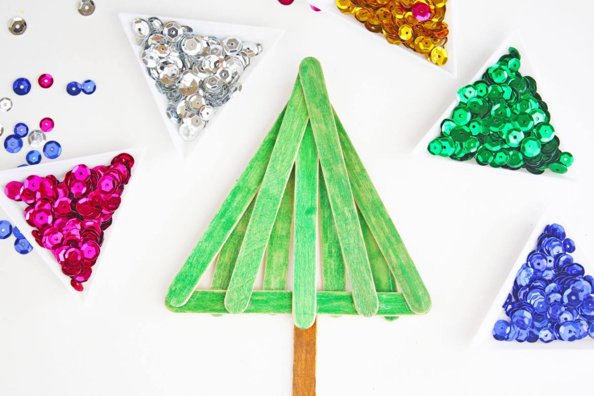 Easy  Fun Popsicle Stick Christmas Tree Craft on Love the Day