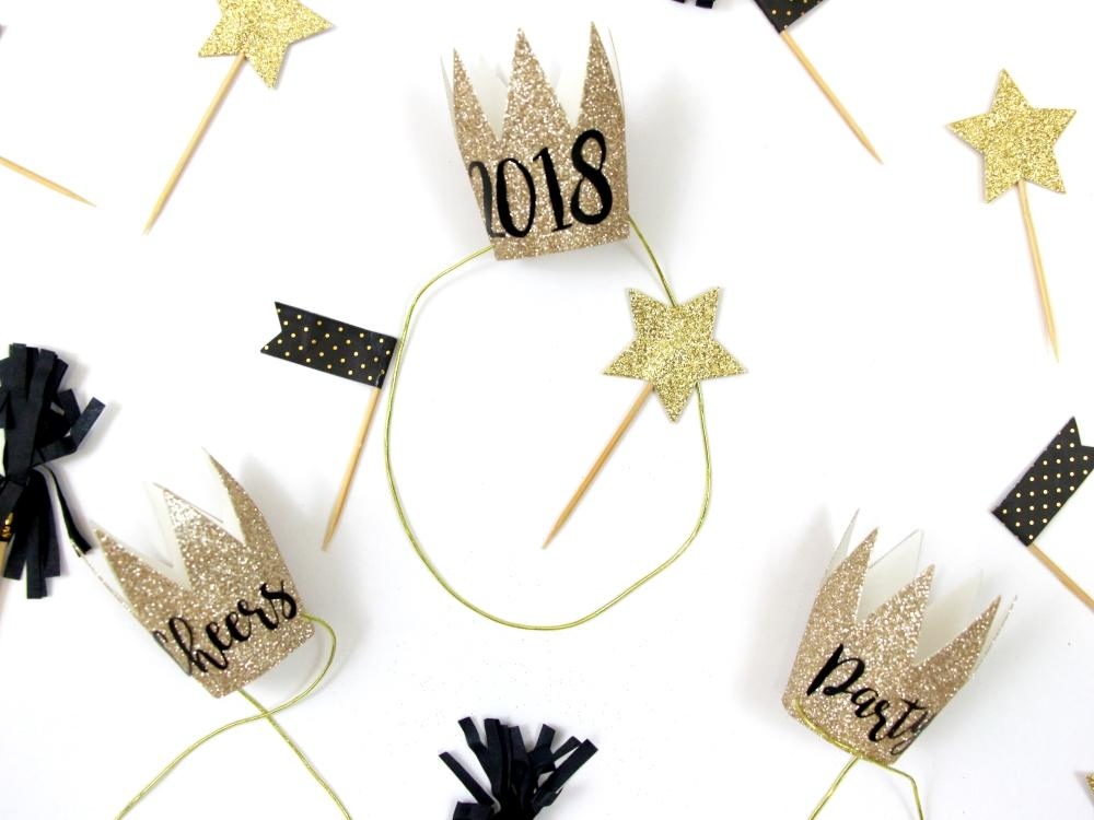 DIY Party Crowns - New Year's Inspiration by Polka Dotted Blue Jay on Love the Day