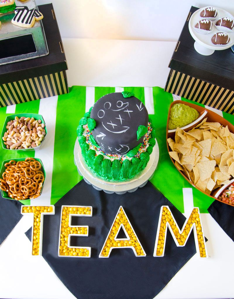 Football Party Decor by Lindi Haws of Love The Day