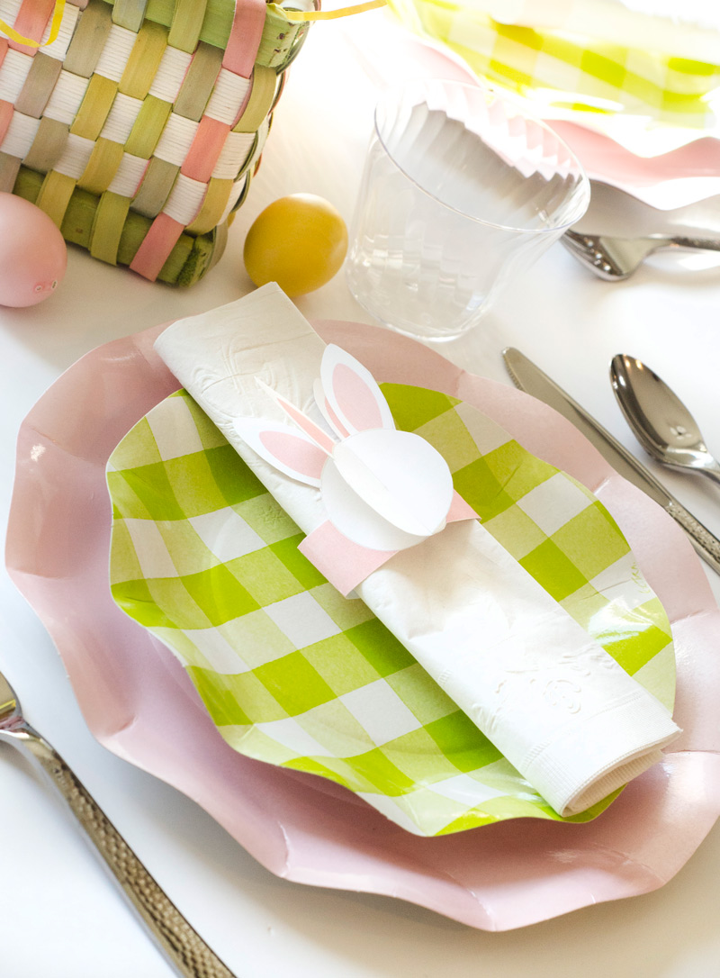 PRINTABLE Bunny Crafts and Napkin Wraps by Lindi Haws of Love The Day