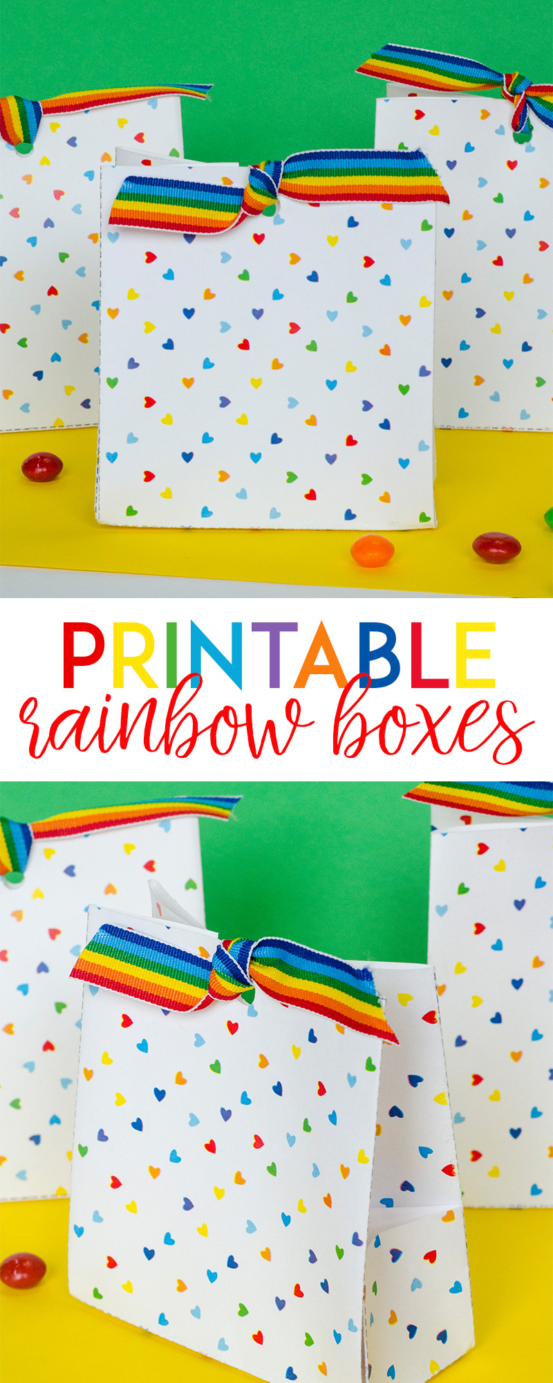 Free Printable Rainbow Treat Boxes by Lindi Haws of Love The Day