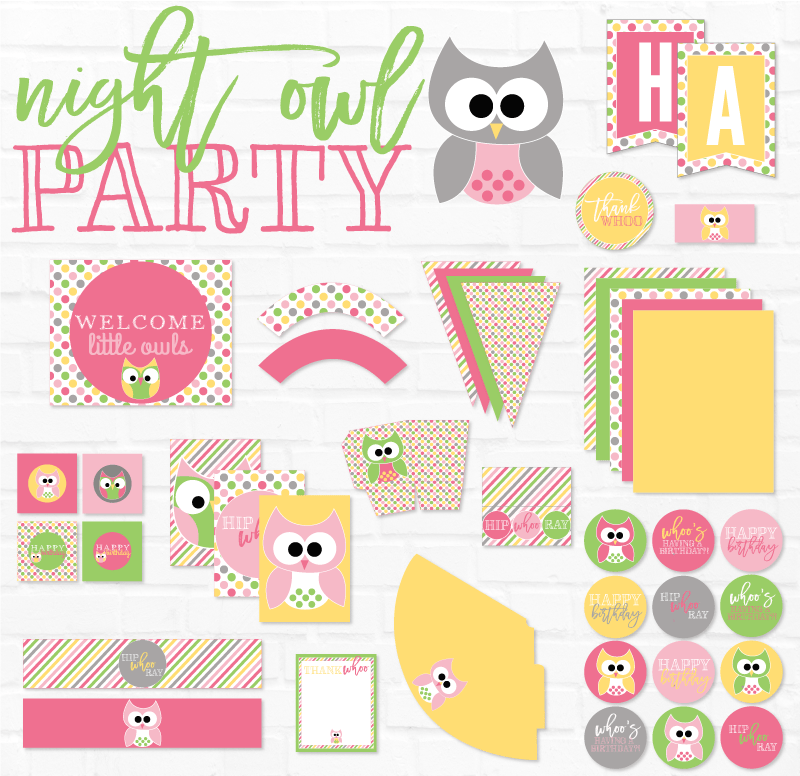 Night Owl Birthday Party by Lindi Haws of Love The Day