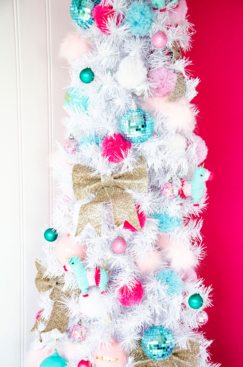 Colorful Christmas Dream Tree Decorating Idea by Lindi Haws of Love The Day