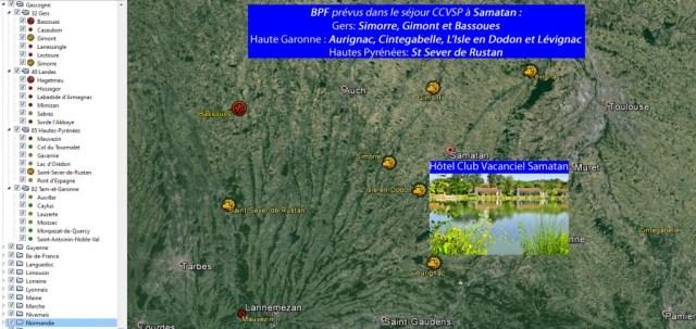 SAMATAN (32 Gers - 31 Haute-Garonne - 65 Hautes-Pyrénées)