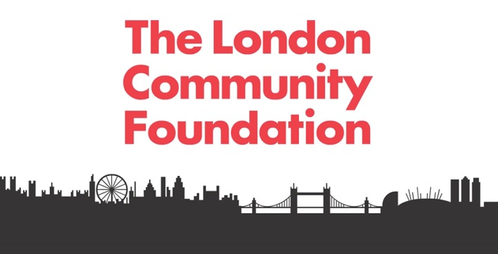 """A silhouette of London, caption reads """"The London Community Fund"""""""