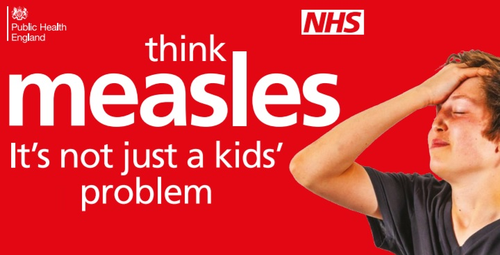 Think measles, It's not just a kid's problem