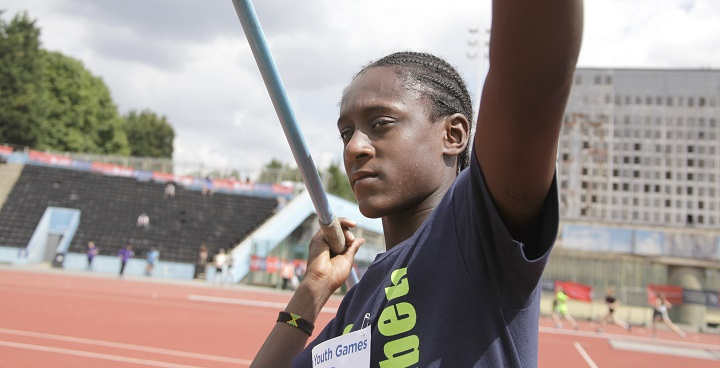 Javelin thrower representing Lambeth in one of more than 30 sports