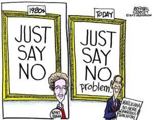 just say no-problem