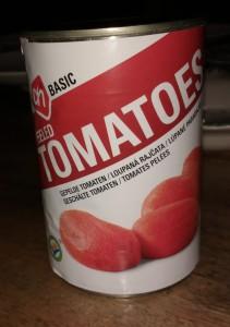 Test gepelde tomaten in blik - Blikje AH Basic gepelde tomaten